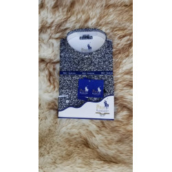 Flora Print Long Sleeve Shirt - white blue