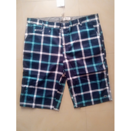 Multicoloured - Checkered Shorts - Blue
