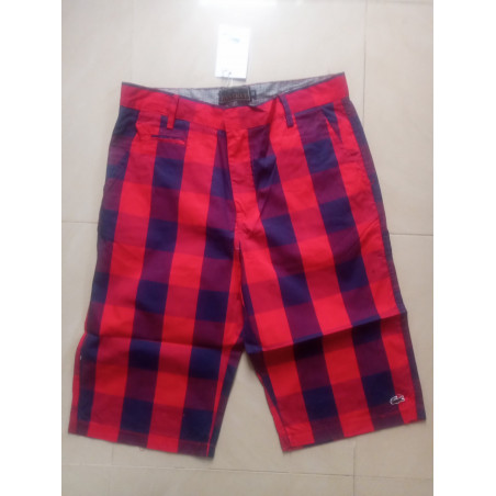 Multicoloured - Checkered Shorts - Red