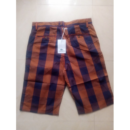 Multicoloured - Checkered Shorts - Brown