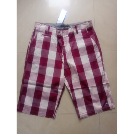 Multicoloured - Checkered Shorts - Red & White